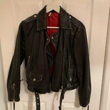 Topshop Black Oversized Real Leather Jacket Size 6