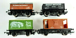 HORNBY GOODS WAGONS X 4 EX-R693 FREIGHT SET 1978 VERY GOOD COND UNBOXED OO(VT)