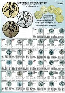 Embleme für Pokale und Medaillen A bis F (25 oder 50mm) Seite 1