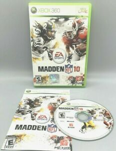 Madden NFL 10 (Microsoft Xbox 360) GAME COMPLETE w/MANUAL HIGHEST RATED EVER!!!!