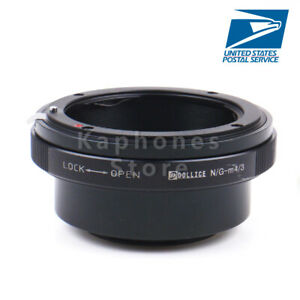 US Camera Built-In Iris Control Adapter For Nikon G Lens to Micro 4/3 GM1 E-M10
