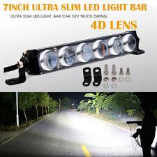 7 inch 60W Car Single Row LED Work Light Bar For ATV SUV 4X4 Car Truck 6000LM