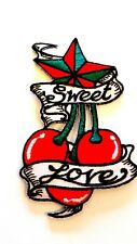 Ricamate aufbügler Patch ciliegie Sweet Love Stella Rockabilly Tatuaggio