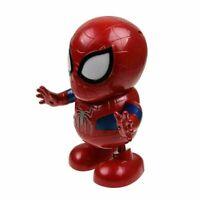 Dancing Dance Spiderman Avengers Toy Figure Robot w/Music Sound & LED Flashlight