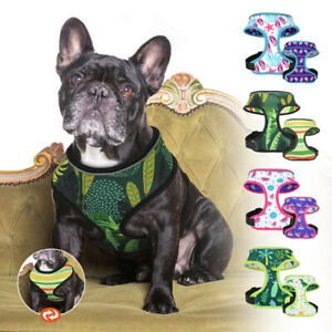 Reversible Dog Harness Reflective Adjustable Vest Clothes French Bulldog S M L