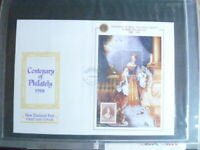 1988 NEW ZEALAND  CENTENARY OF PHILATELY MINISHEET   FIRST DAY  COVER