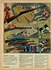 1975 ADVERTISEMENT Toy Gun Rifle Daisy Trail Boss Pirate Holster Blunderbuss