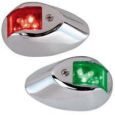 PERKO LED SIDE LIGHTS 24V RED  / GREEN W/ CHROME H