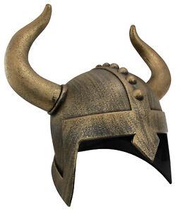 Medieval Viking Warrior Helmet Horns Hat Samurai Horned Barbarian Costume