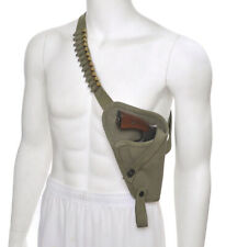 Us M3 Victory Revolver Pilots Canvas Shoulder Holster with Shell loops Od