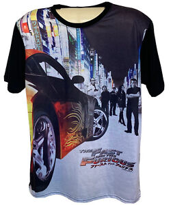 THE FAST & THE FURIOUS Tokyo Drift Size S CrewNeck T Shirt Short Sleeve Licensed