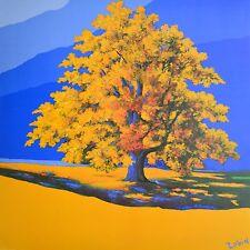 Robin de la dorada árbol póster son impresiones artísticas imagen 70x68cm