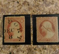 George Washington 3 Cent 1851-1857 # 11 United States and Type 2 1857-60 stamp