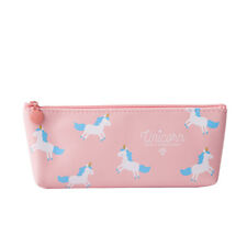 Unicorn Pencil Case Cute School  PU Cosmetic Pouch Stationery Zip Bags Girl