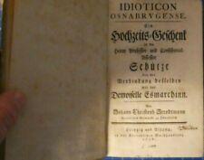 STRODTMANN Johann Christoph Idioticon Osnabrugense Kortensche 1756 H9238