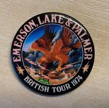 Emerson Lake & Palmer (ELP) - Tour Badge - British Tour 1974