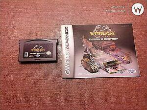 Nintendo Game Boy Advance GBA Cartridge Manual Battle Bots Design & Destroy