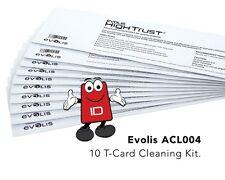 Evolis High Trust ACL004 Long T Cleaning Cards Evolis Zenius, Primacy & Elypso