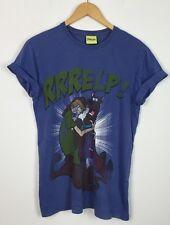 VINTAGE anni'90 SCOOBY DOO Yelp Shaggy Retrò Maglietta a Festival Urbano UK S
