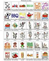2,300+/- KITCHEN FOOD STUFF BROTHER EMBROIDERY MACHINE DESIGN COLLECTION SET PES