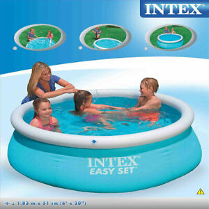 Large 6FT Family Swimming Pool Garden Outdoor Summer Inflatable Paddling Pools