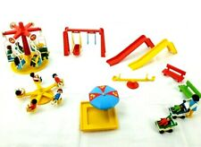 Vintage Playmobil City Park with Carnival Amusement Rides, People & Accessories