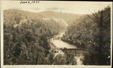 River & Dam - W. Granville MA Written on Back Real Photo Postcard