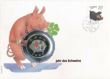 Numisbrief Numiscover Jahr des Schweins 1995 Philswiss