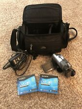 Sony Handycam Dcr-Dvd205 Touch Screen Video Camcorder Bundle - Disc And Case