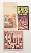 1970s Lot of 3 Vintage Cocktails Blender Drinks Parties Modern Pop Art Design
