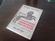 1966 Jorge Luis Borges First Edition Literaturas Germanicas Medievales Spanish