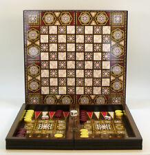 WorldWise Mother of Pearl Decoupage Backgammon Set, 14.5 Inch Board