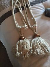 cream rope curtain tie backs