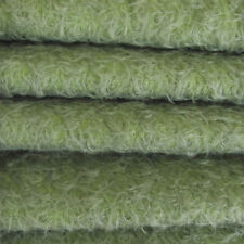 "1/6 yd 300S/CM Antique Sage INTERCAL 1/2"" UltraSparse Curly Matted Mohair Fabric"