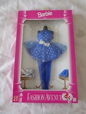BARBIE DOLL FASHION AVENUE PARTY SET 1995 (BLUE) MATTEL 14370 - NEW & BOXED