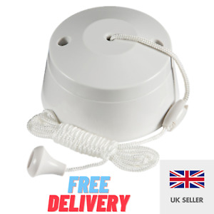 Pull Switch Ceiling Pull Cord white 10A 1Way  Bathroom Toilet Light switch