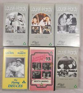 Laurel And Hardy VHS PAL Video Cassettes Bundle Job Lot Way Out West