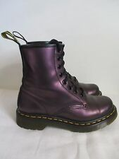 Dr. Martens Boots Pearl Women's 8-Eye Lace Up Air Wair Purple Size US 6