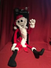 "Disney Nightmare Before Christmas 24"" SANTA JACK SKELLINGTON POSEABLE PLUSH DOLL"