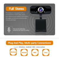 PVR006 1080P HD USB Webcam Camera Laptop Autofocus Video Microphone Calling ###