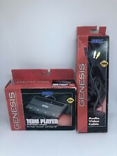 (1) <>Sega Genesis Audio Video AV Cable  <&> (1) Team Player adapter <> FREE S&H