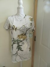 Woman's REAL TREE  Blouse Large  SHORT Sleeve  (Fall/Winter)