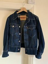 Ladies Dark Blue Levi Denim Jacket Size Small.