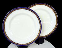 "ROYAL DOULTON #325655 GILMAN COLLAMORE & CO COBALT GILT 2PC 10.5"" DINNER PLATES"