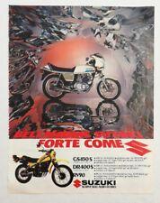 Pubblicità epoca 1981 MOTO SUZUKI MOTOR advertising publicitè werbung reklame