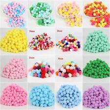 Mini Pompom 10 15 20 25 30mm Fur Plush Pompoms Ball for Craft Soft Wedding Home