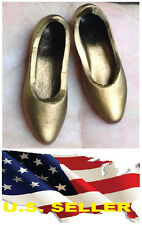 ❶❶1/6 scale KUMIK female shoes flats metallic gold color SHIP FROM USA❶❶
