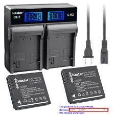 Kastar Battery LCD Rapid Charger for Panasonic Original DMW-BCF10 Genuine DE-A60