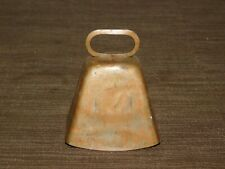 "Vintage Old West Cowboy 3"" High Metal Cow Bell"