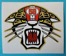 Simoncelli Tigre tiger ADESIVI Marco 58 Sic stickers  tributo motogp